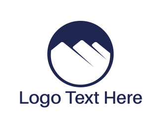 Desert - White Mountains logo design