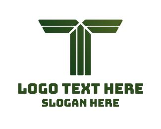 Shape - Green Shape T logo design