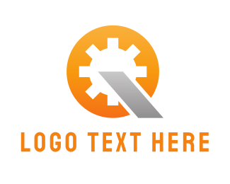 Letter Q - Industrial Gear logo design