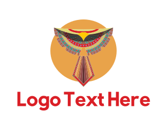 Falcon - Tribal Bird logo design