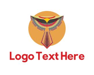 Hawk - Tribal Bird logo design
