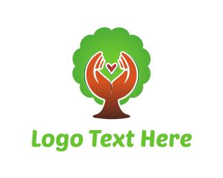 Hand - Nature Love logo design