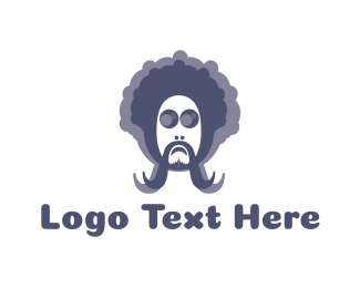 Man - Hippie Man logo design