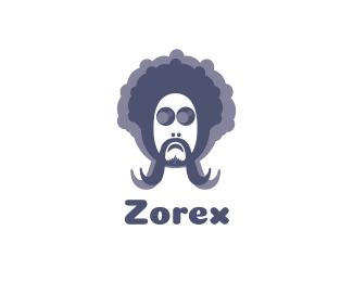 Man Profile Hippie Man logo design