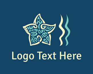 Starfish - Star & Waves logo design