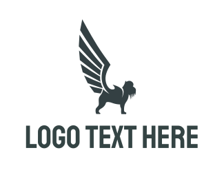 Winged - Grey Griffin logo design
