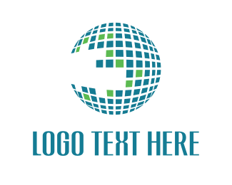 Tech - Globe Grid logo design