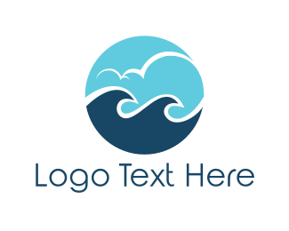 Sea - Ocean Circle logo design