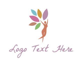 Chiropractor - Nature Woman logo design