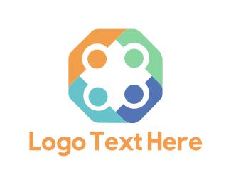 Organization - Colorful Hexagon logo design
