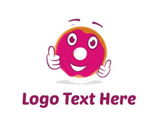 Doughnut - Donut Cartoon logo design