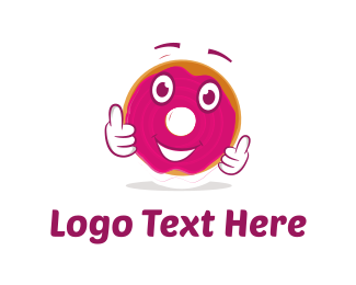 Donut Cartoon Logo