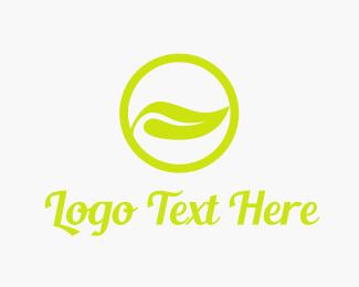 Juice - Nature Leaf Circle logo design