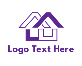 Interior Designer - Purple House Code logo design