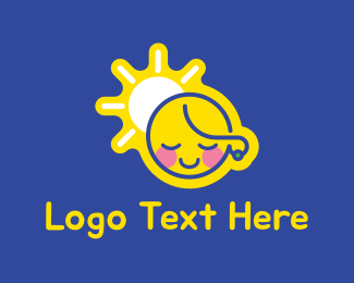 Adorable - Cute Girl logo design