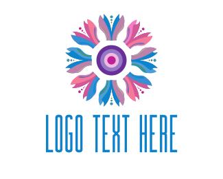 Nail - Tulip Flower logo design