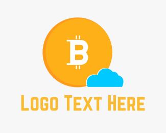 Dollar - Bitcoin Cloud logo design