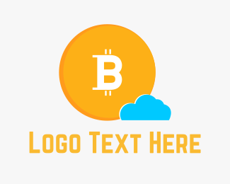 Dollar - Bitcoin Cloud logo design