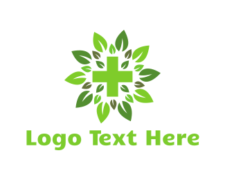 Marijuana - Green Cross logo design