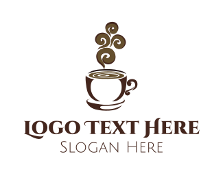 Tea - Hot Brown Cup logo design