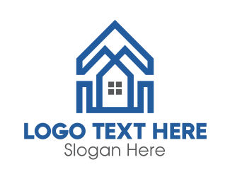 Rent - Polygonal House logo design