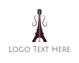 Guitarist - French Guitar logo design