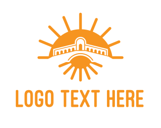Kingdom - Orange Sun Temple  logo design