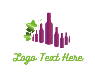 Vine - Wine Bottles logo design