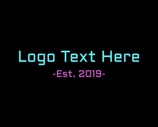 Coder - Neon Arcade logo design
