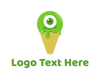 Eyeball - Cone Monster logo design