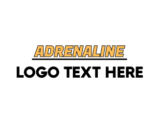 Wordmark - Yellow Racing Wordmark logo design