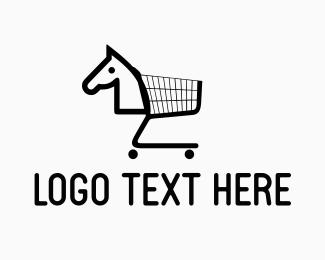 Shopping Cart - Horse Cart logo design