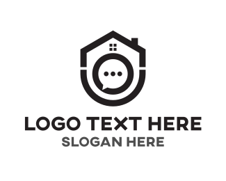 Sms - House Chat logo design