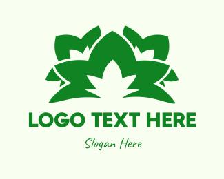 Organic - Green Leaves logo design