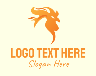Burning - Flame Chicken logo design