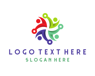 People - People Swirl logo design