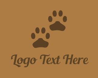 Foot - Brown Paws logo design