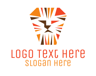 Orange Lion Mosaic Logo