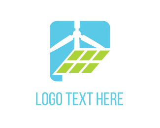 Solar Panel - Eco Energy logo design