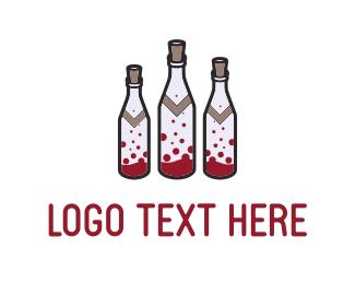 Liquor - Wine Bottles logo design