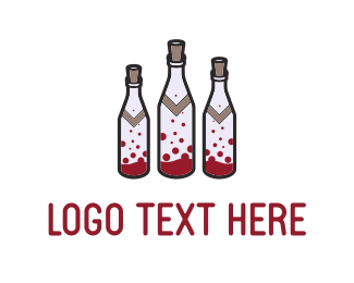 Pub - Wine Bottles logo design