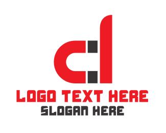 Magnet - Red D Magnet  logo design