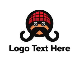 Illustration - Hipster Moustache logo design