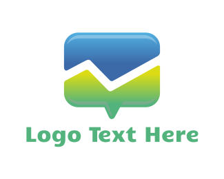 Mountain - Mountain Chat logo design
