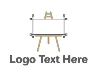 Graphic - Vector Easel logo design