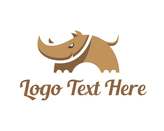 Rhino - Sharp Cartoon Rhino logo design