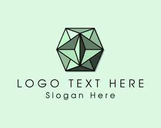 Emerald - Green Gem logo design