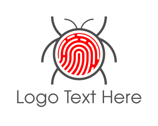 Identification - Fingerprint Bug logo design