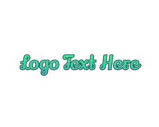 Wordmark - Fresh Cursive Wordmark logo design