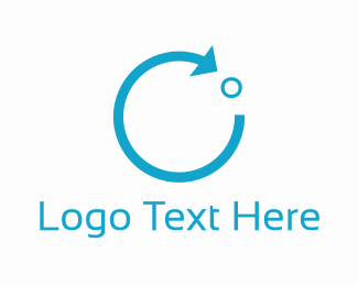 Liquid - Blue Circle Arrow logo design